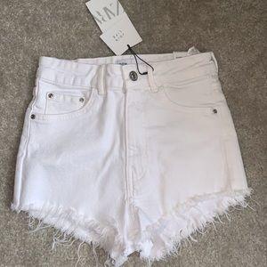 Zara White Denim Shorts 2